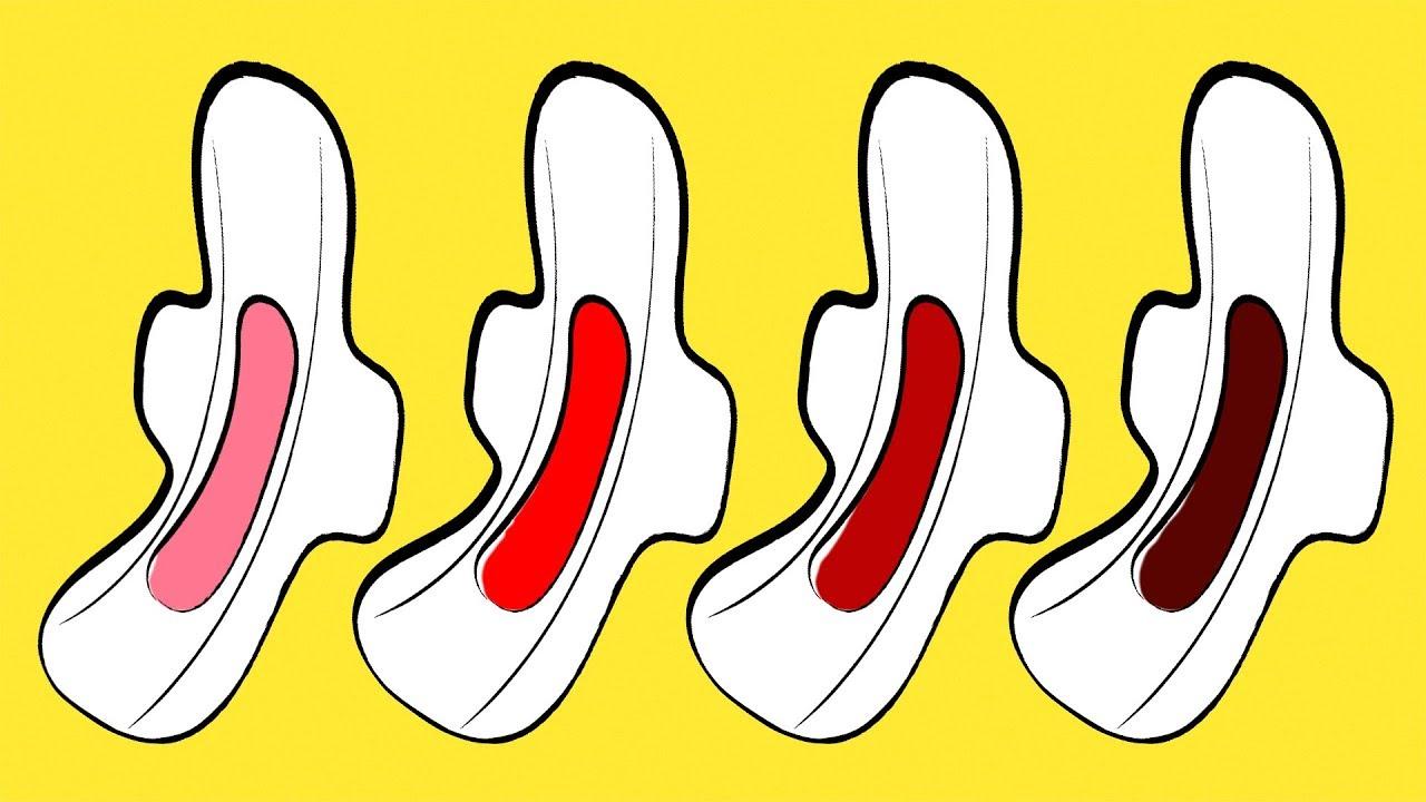 سبعة أشياء يكشفها لون دم الحيض عن صحتك
