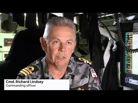 On board Collins-class submarine HMAS Waller with Commander Richard Lindsey