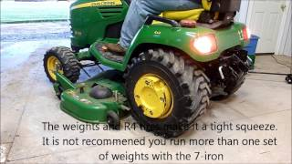 John Deere 7-Iron Deck on an X series