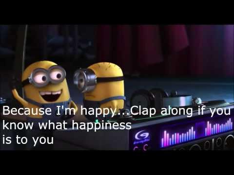 Pharrell Williams-Happy Lyrics (Despicable Me 2)