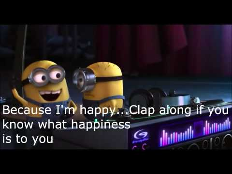 Pharrell Williams-Happy Lyrics (Despicable Me 2) Mp3