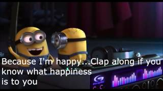 Cover images Pharrell Williams-Happy Lyrics (Despicable Me 2)