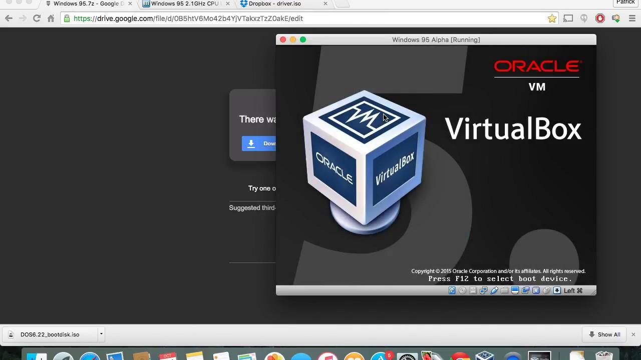 How To: Install Windows 95 on VirtualBox