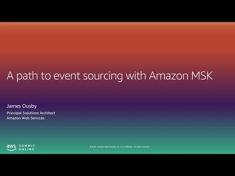 I Build Applications - A Path to Event Sourcing With Amazon MSK (Level 200)