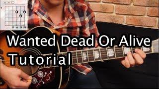 """Como tocar """"Wanted Dead or Alive"""" de Bon Jovi - Tutorial Guitarra + TAB (HD)"""