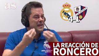 REAL MADRID 4 - HUESCA 1 | La reacción de RONCERO: cuando criticaba la falta de gol, llegó | AS