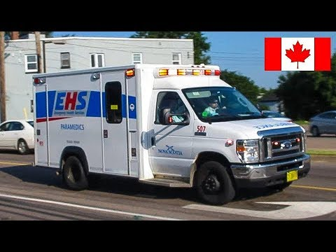 Truro | Nova Scotia EHS Ambulance Responding Urgently With Lights & Siren To Medical Aid Call