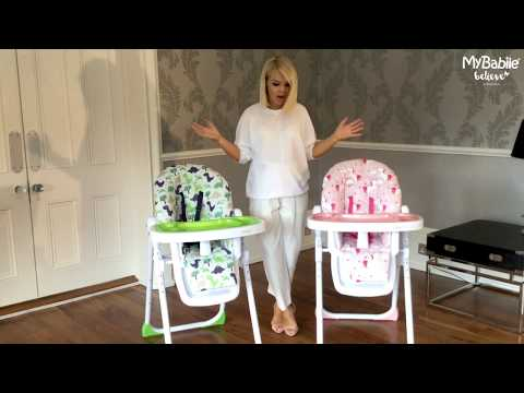 My Babiie Believe MBHC8DI Dinosaurs Highchair Snapshot with Katie Piper