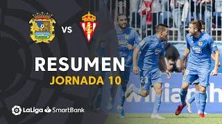 Resumen de CF Fuenlabrada vs Real Sporting (2-0)
