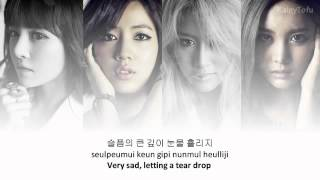 T-ara - Don't leave~ lyrics on screen (KOR ROM ENG)