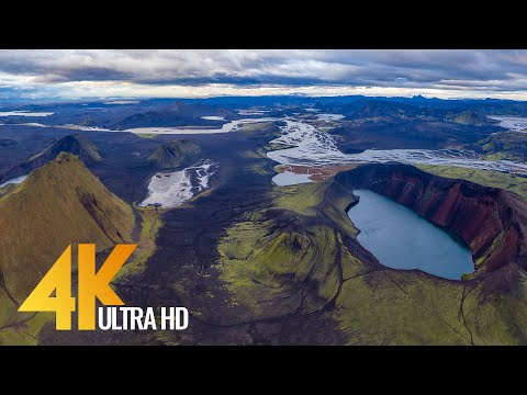 Bird's Eye View of ICELAND in 4K UHD - 8 HOUR Aerial Film with Relaxing Music