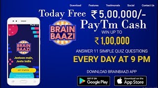 BrainBaazi Live Quiz Game App to Win Money Online |  Play games quiz & live 50 thousand paytm cache
