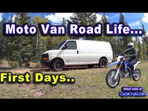 VAN ROAD TRIP Colorado PT 1 - First Day on the Road - Van Toilet - Van Cooking - African Basenji