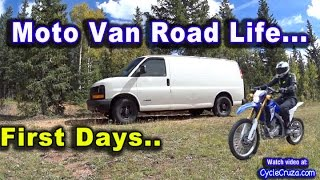 First Days on the Road in Moto Camper Van - Van Toilet - Van Cooking - African Basenji