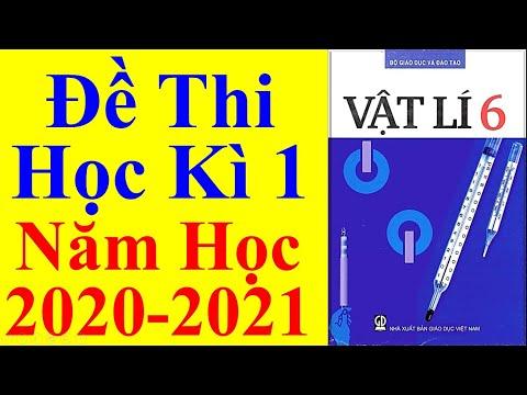 Vật lý Lớp 6 – Đề Thi Học Kì 1 Năm Học 2020 - 2021