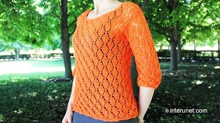 Knitting a blouse - autumn leaves pattern. Part 1 of 3