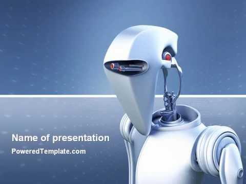 Robot powerpoint template by poweredtemplate youtube toneelgroepblik Gallery