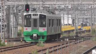 車両検査で長野へ来た、えちごトキめき鉄道ET127系V7編成、解体が進むE231系6扉車、長野総合車両センター。