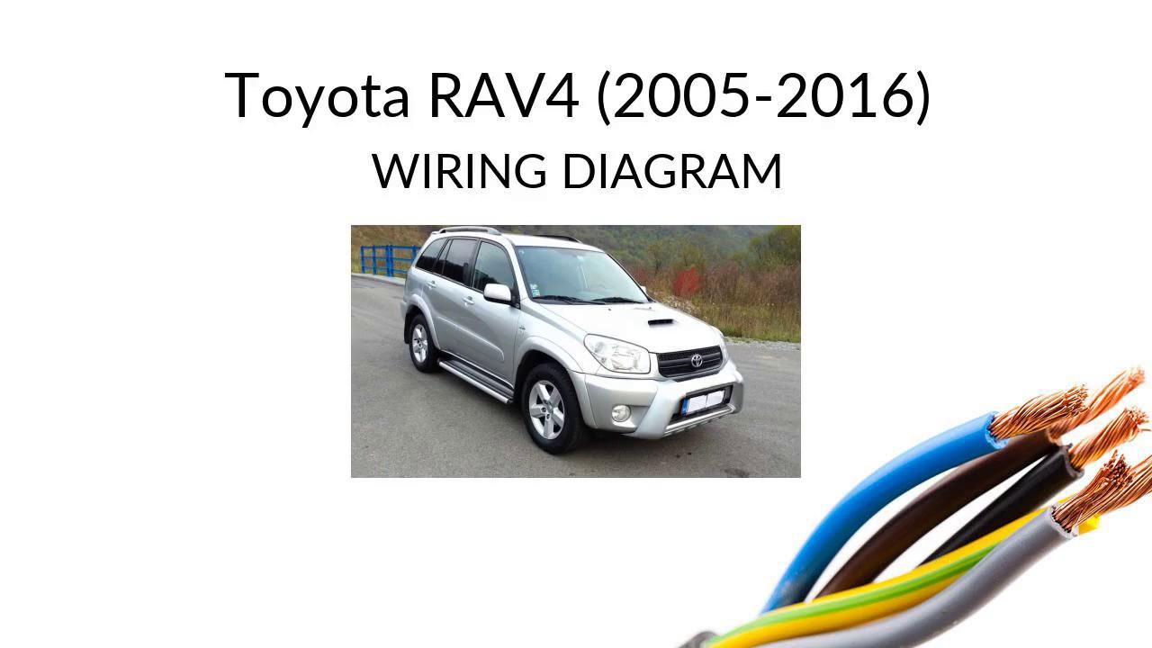 Toyota Rav4 Xa30 2005 2015 Wiring Diagram Harness Youtube