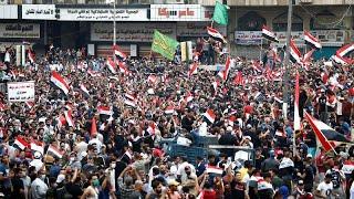 تجدد المظاهرات في ساحة التحرير وسط بغداد قبيل انعقاد جلسة للبرلمان…
