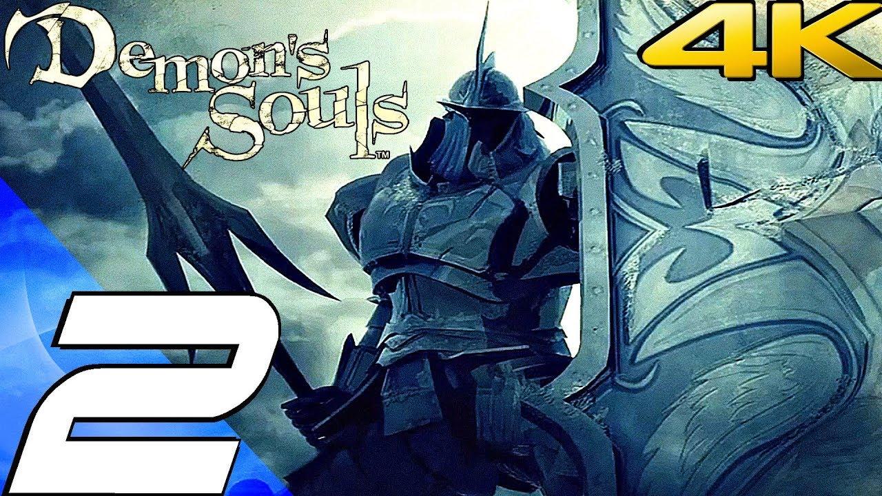 Demon S Souls Gameplay Walkthrough Part 2 Tower Knight Boss Fight 4k 60fps Remastered Youtube