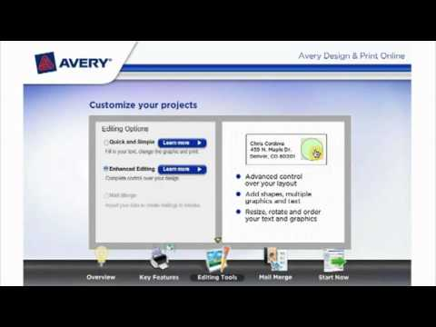 Avery Design And Print Online With Free Templates Youtube