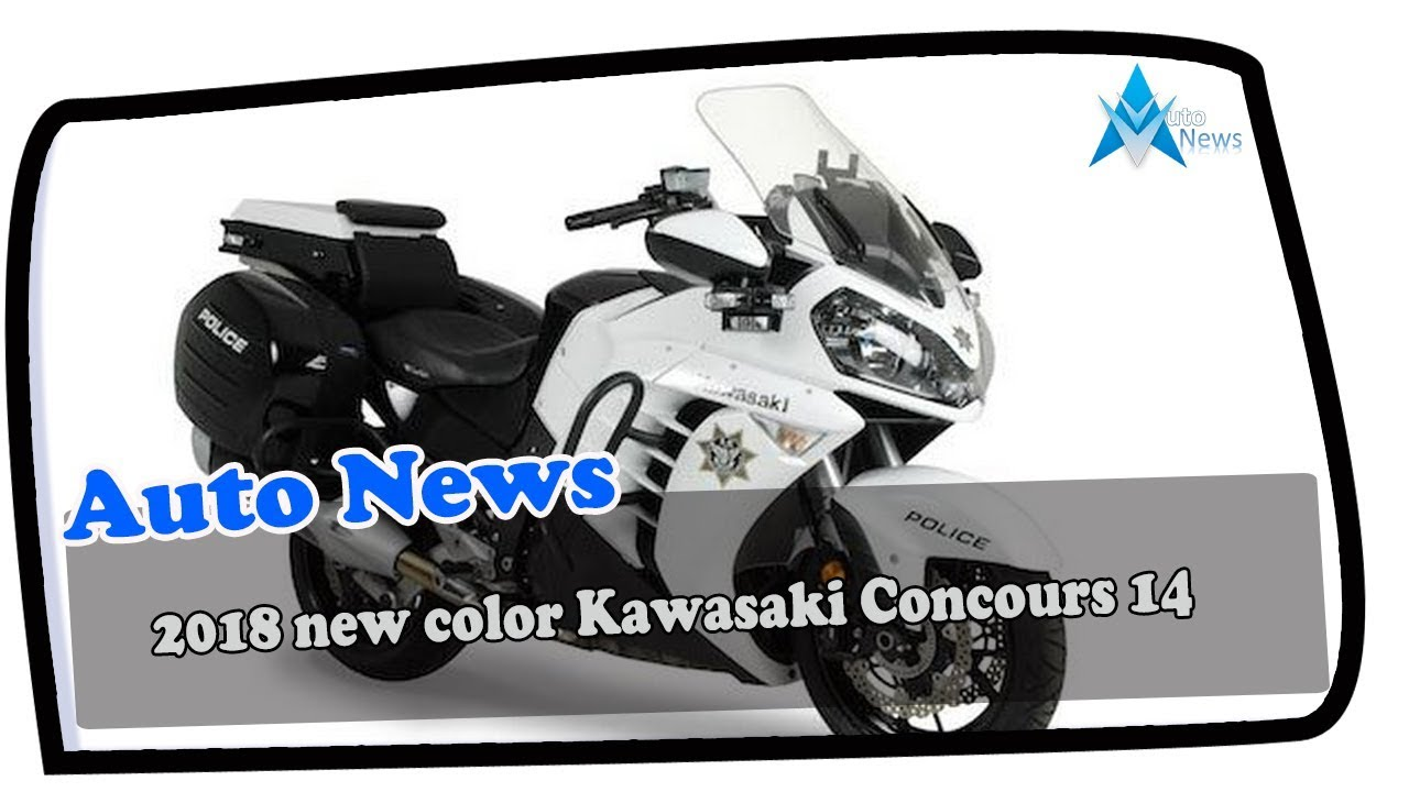 LOOK THIS!!! 2018 new color Kawasaki Concours 14 Price & Spec