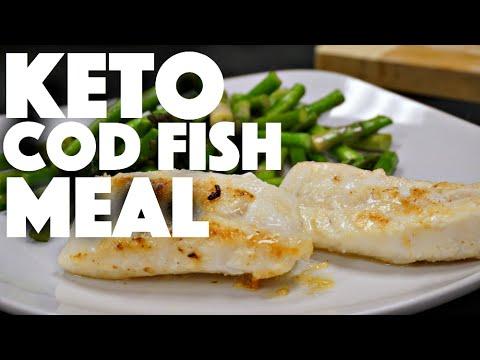 Keto Baked Cod Fish - low carb nutrition - intermittent fasting keto recipes - ketones