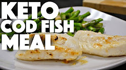 Keto Baked Cod Fish - low carb nutrition - intermittent fasting keto recipes - ketones