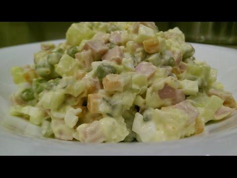 ОЛИВЬЕ вкусный рецепт. Салат оливье с колбасой. Праздничные салаты.