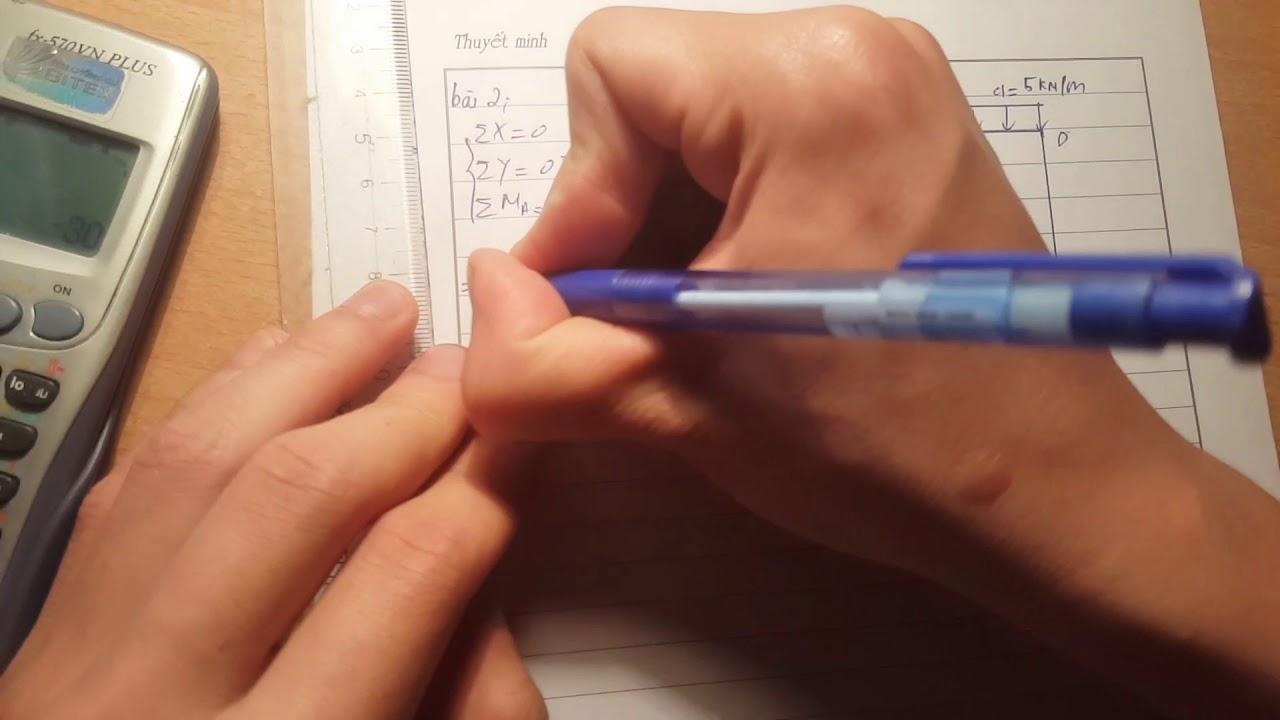 CƠ HỌC KẾT CẤU: Vẽ biểu đồ mômen cho khung tĩnh định_Part 1