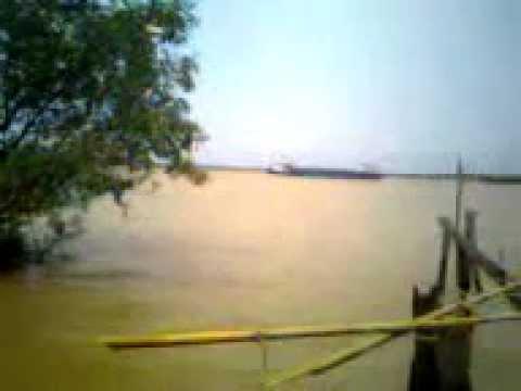 Musi river.Palembang.Indonesia