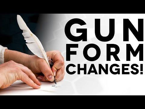 Changes to Gun Buying Form 4473 - The Legal Brief!