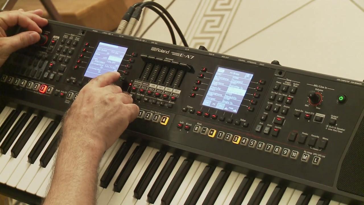 Roland E-A7 Style Mixer With Tony Maraashly