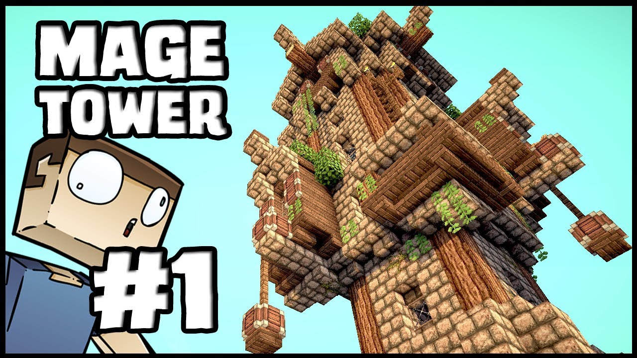Minecraft Lets Build Mage Tower Part 1 Youtube