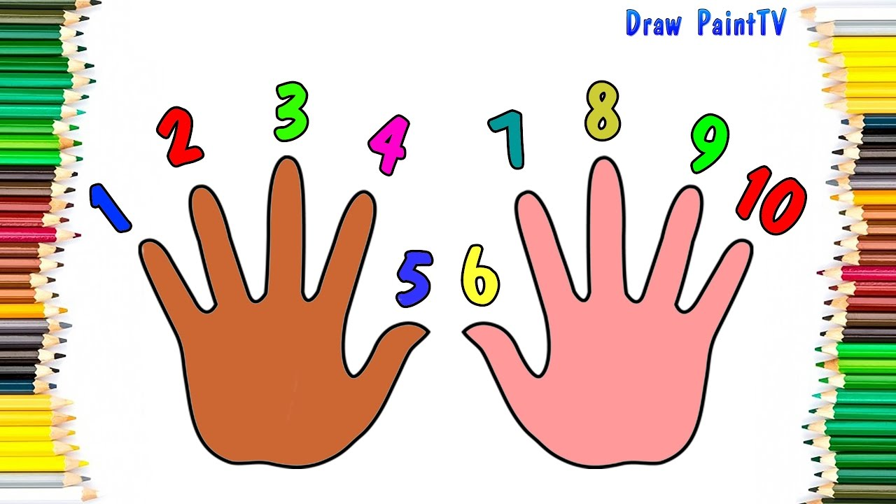 baby coloring numbers 1 to 10 with hand coloring pages video for