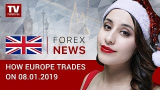 InstaForex tv news: 08.01.2019: EUR and GBP trading higher