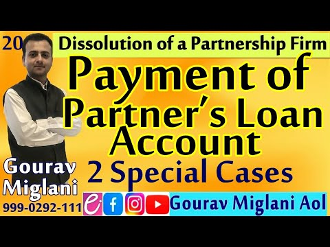 #176 Payment of Partner's Loan    Dissolution of Partnership Firm    By Gourav Miglani
