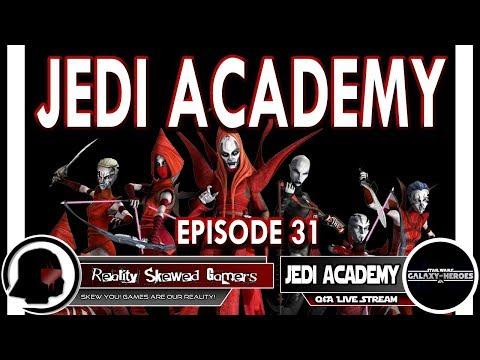 SWGOH Jedi Academy Episode 31 Live Q&A | Star Wars: Galaxy of Heroes #swgoh