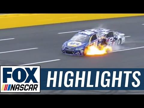 Chase Elliott and Brad Keselowski Crash Early at Charlotte | 2017 CHARLOTTE | FOX NASCAR