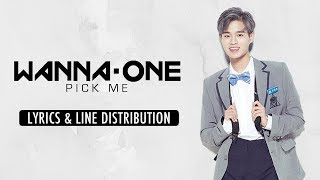 Line distribution and lyrics for wanna one's version of pick me (나야나). correct the four debated lines in second verse based on ink co...
