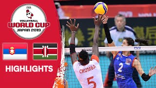SERBIA vs. KENYA - Highlights   Women's Volleyball World Cup 2019