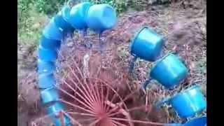 Part 1-3 Water wheel 150 watts, Low water volume, Hobo, Minalabac, Philippines renewable free energy