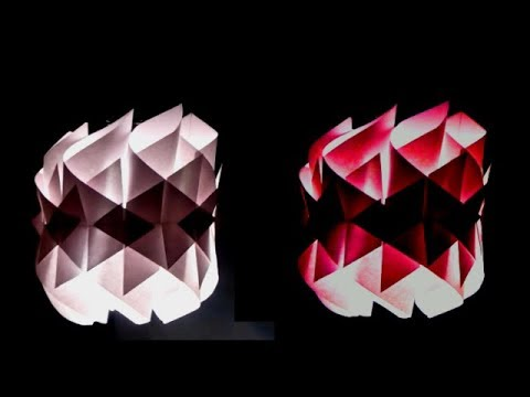 DIY - PAPER LAMP/Paper Lantern (Diwali Decoration Ideas) | Origami Paper Lantern