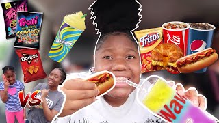i only ate GAS STATION FOOD for 24 HOURS CHALLENGE