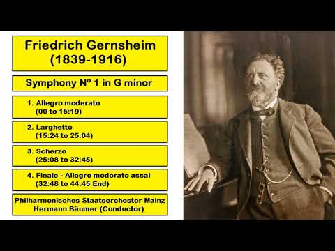 Friedrich Gernsheim (1839-1916) - Symphony Nº 1 in G minor