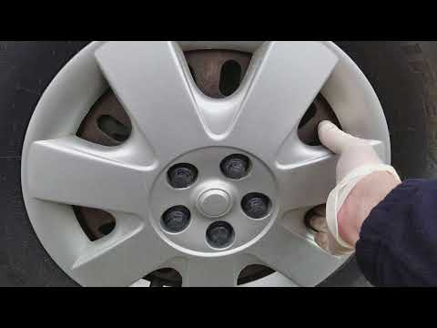 How to remove hubcaps with plastic lug nuts?