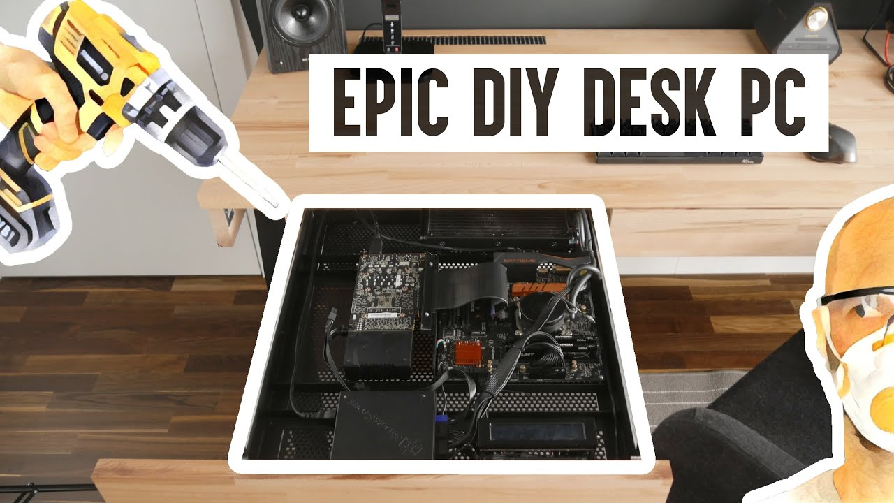 A desk with a PC inside Desks and Computer build t
