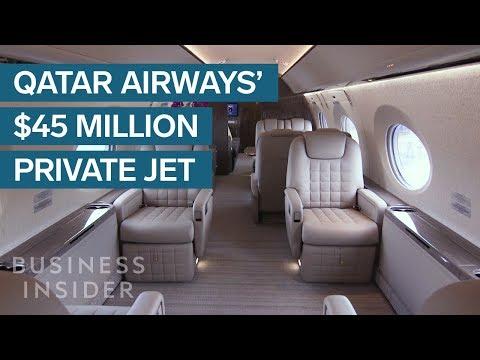 Inside Qatar Airways' $45 Million Private Jet