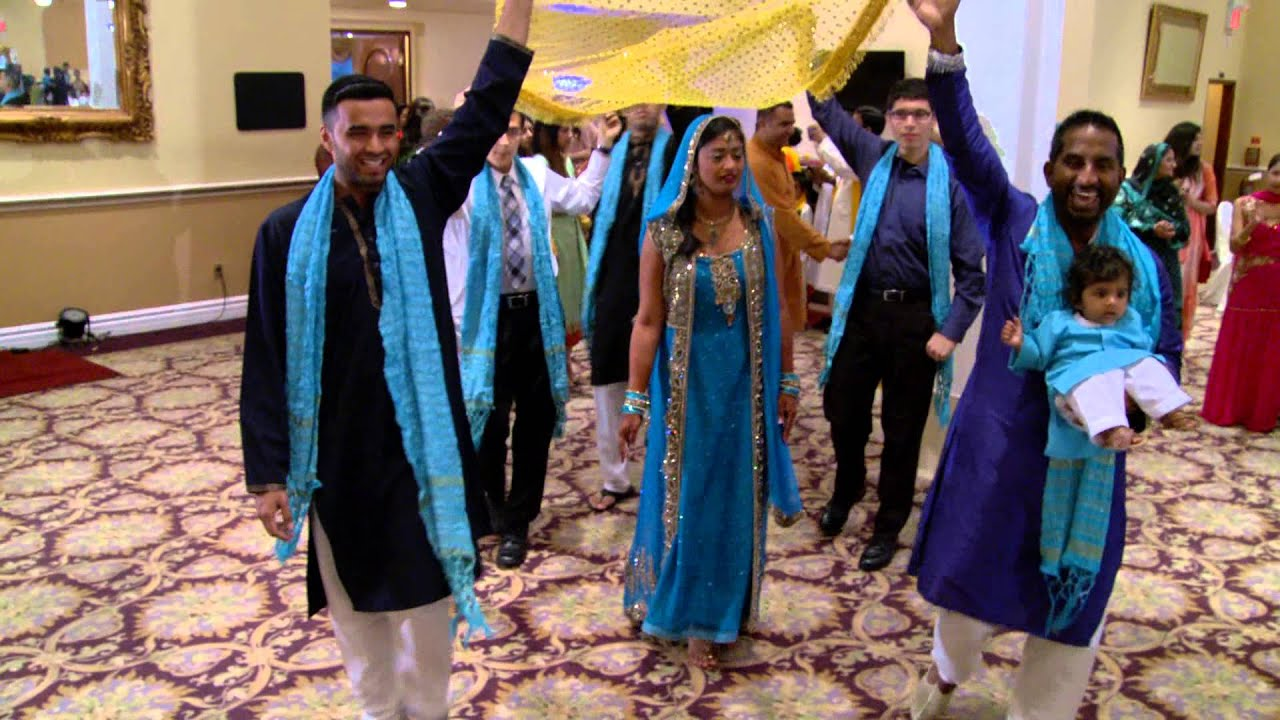 Brides Entrance At An Indian Mehndi Ceremony Mississauga Wedding Video Photo Production Services